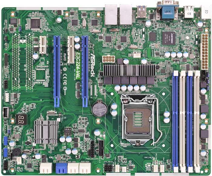 ASRock Rack LGA1150、Intel Xeon E3-1200 v3対応ATXサーバー向けマザーボード (E3C224-V4L)