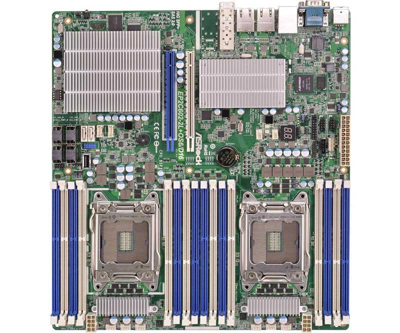 ASRock Rack LGA2011、Intel Xeon E5-1600/2600/4600 & v2シリーズ対応SSI EEBマザーボード (EP2C602-2L+OS6/D16)