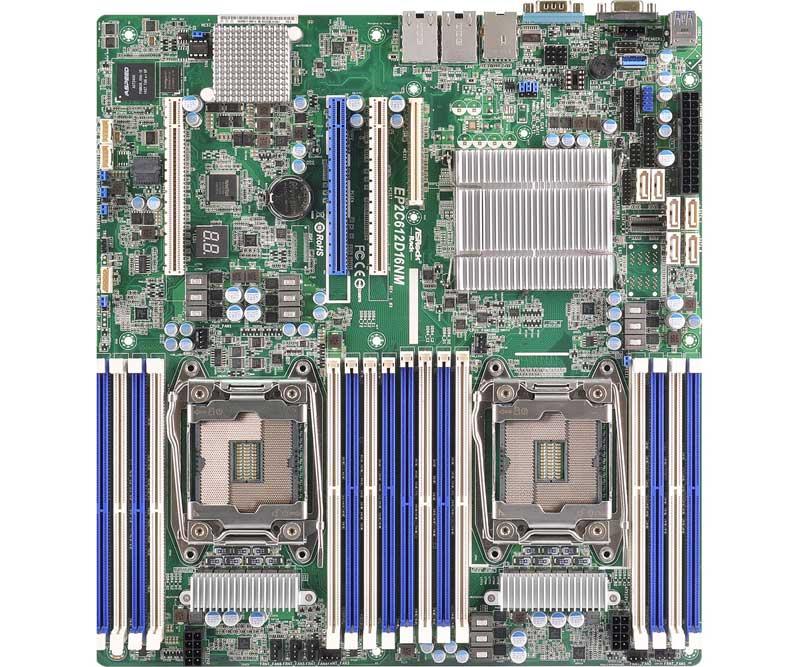 ASRock Rack LGA2011-3 Intel Xeon E5-2600/4600 & v3シリーズ対応SSI EEBサーバー向けマザーボード (EP2C612D16NM)