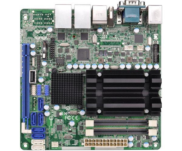 ASRock Rack Intel Atom D2550デュアルコアプロセッサ搭載のMini-ITXサーバー向けマザーボード(AD2550R/U3S3)