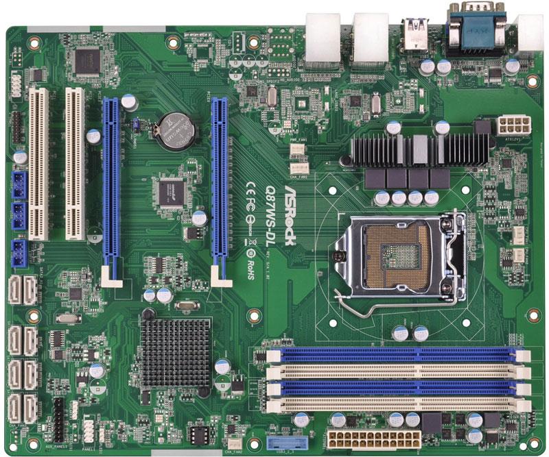 ASRock Rack Intel Q87チップセット搭載ワークステーション向けのATXマザーボード (Q87WS-DL)