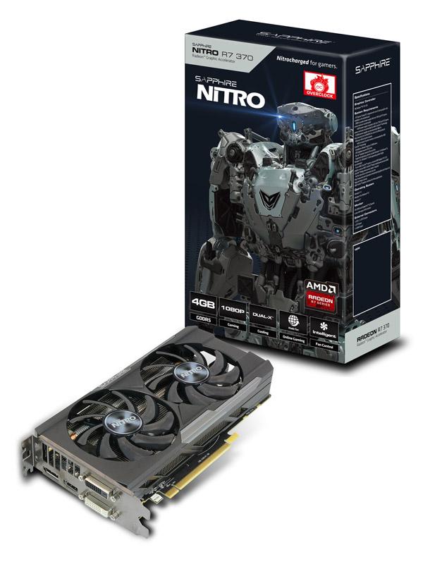 Sapphire NITRO R7 370 4G GDDR5 PCI-E DI/DD/H/DP DUAL-X (SA-R7370-4GD5NIT01/11240-04-20G)