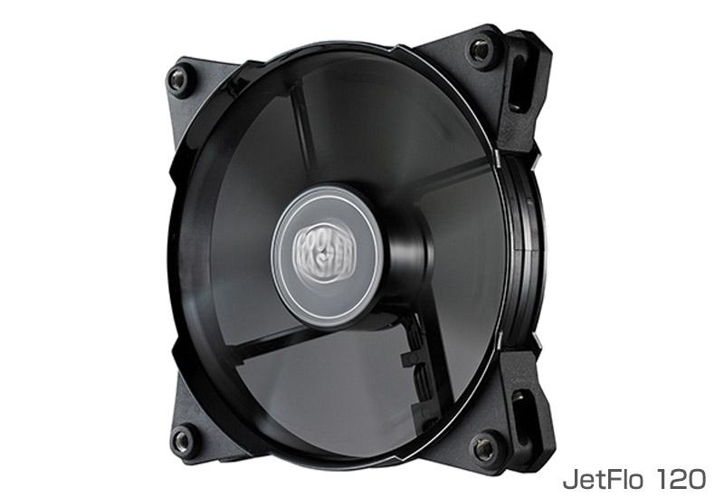 Cooler Master 95CFMの大風量と直進的エアフローハイグレードな120mmファン JetFlo 120シリーズ   (R4-JFNP-20PK-J1)