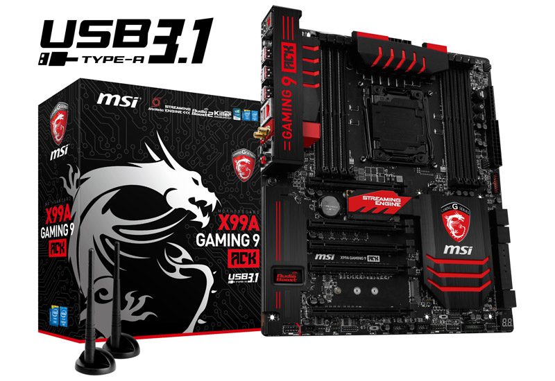 MSI X99A GAMING 9 ACK ゲーミングExtended ATXマザーボード (X99A GAMING 9 ACK)