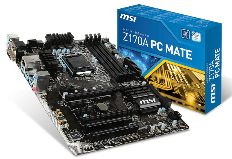 MSI インテル Z170 Expressチップセット搭載高品質部品を採用するATXマザーボード (Z170A PCMATE)