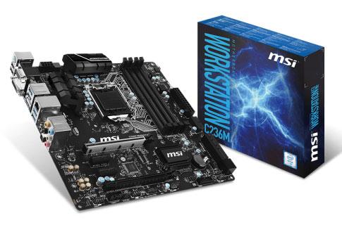 MSI C236M WORKSTATION インテルC236チップセット マザーボード(C236M WORKSTATION)