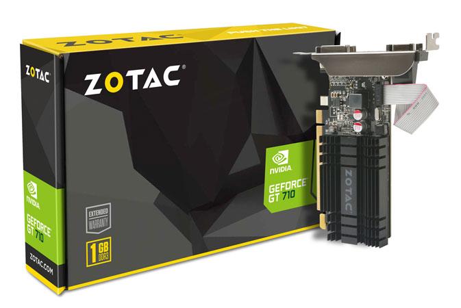 ZOTAC GT 710 1GB DDR3 LP NVIDIA GeForce GT 710搭載ファンレスビデオカード (ZTGT710-1GD3LP001/ZT-71301-20L)