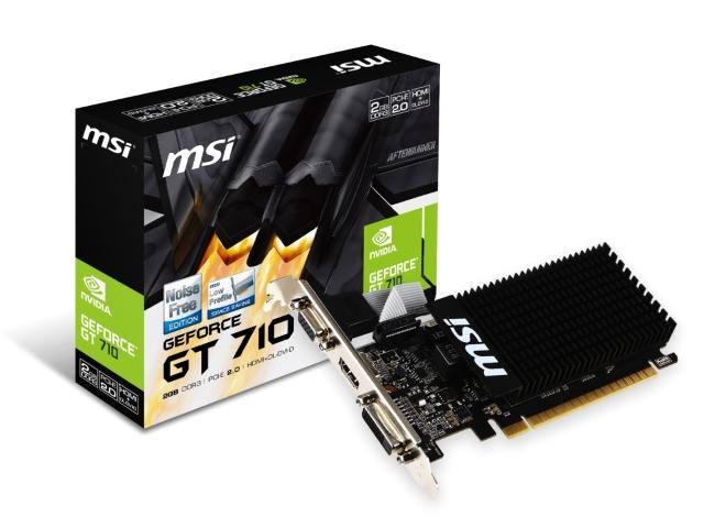 MSI GT710 1GD3H LP GeForce GT 710採用ビデオカード (GT710 1GD3H LP)