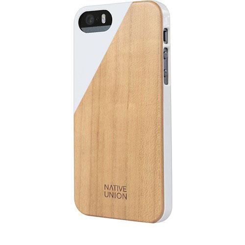 Native Union Clic Wooden Case for iPhone SE/5/5s ホワイト ウッドケース (CLIC-WHT-WD-5-5SV2)