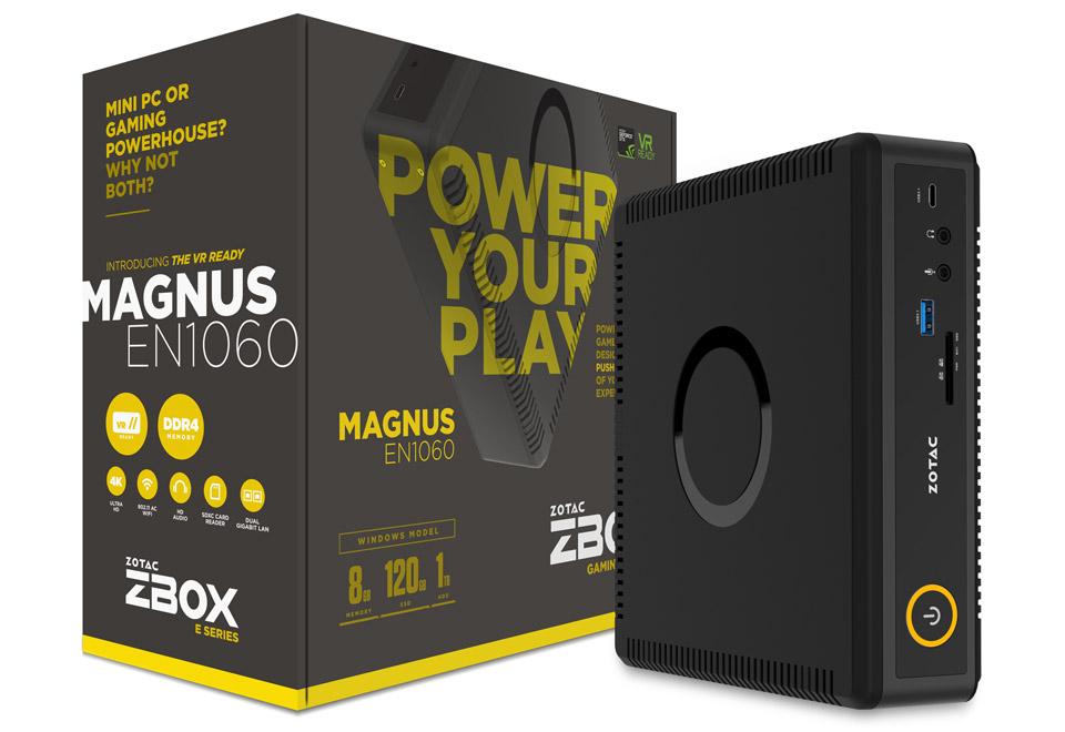 ZOTAC ZBOX EN1060 Win10 Home NVIDIA GeForce GTX 1060搭載コンパクトパソコン|ZBOX-EN1060-J-W2B