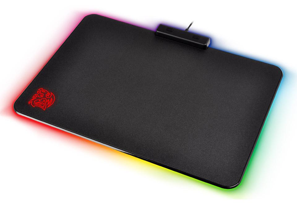 Thermaltake TteSPORTS DRACONEM RGB 1680万色で光るLEDイルミネーション搭載ゲーミングマウスパッド|MP-DCM-RGBHMS-01