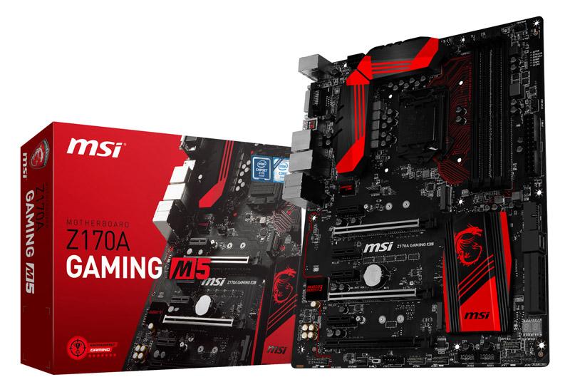 【マウスパット、PC自作本付き】MSI Z170A GAMIMG M5 SET インテル Z170 Expressチップセット搭載ゲーミング向けATXマザーボード