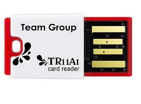 Team Card Reader わずか3gのUSB2.0メモリコンパクトカードリーダー microSD/microSDHC/microSDXC対応|T11A1R01