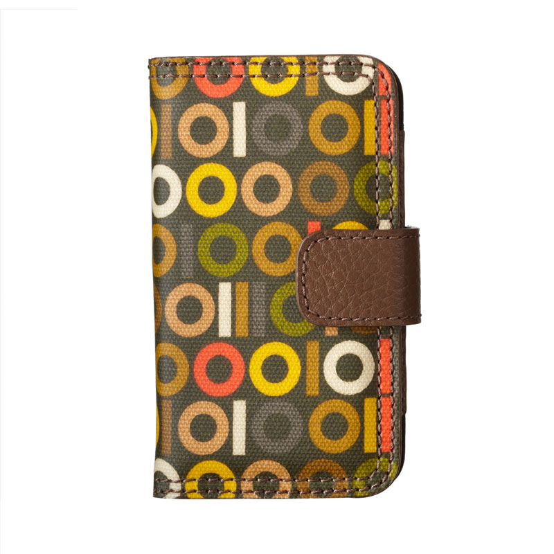 Orla Kiely Binary Print Folio Case iPhone4/4s レトロでカラフルなFolioケース (M.1C17183)