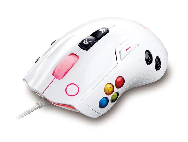 Thermaltake 最大140個のマクロ設定可能ゲーミングマウス Tt eSPORTS VOLOS Mouse ホワイト (MO-VLS-WDLOWH-01)