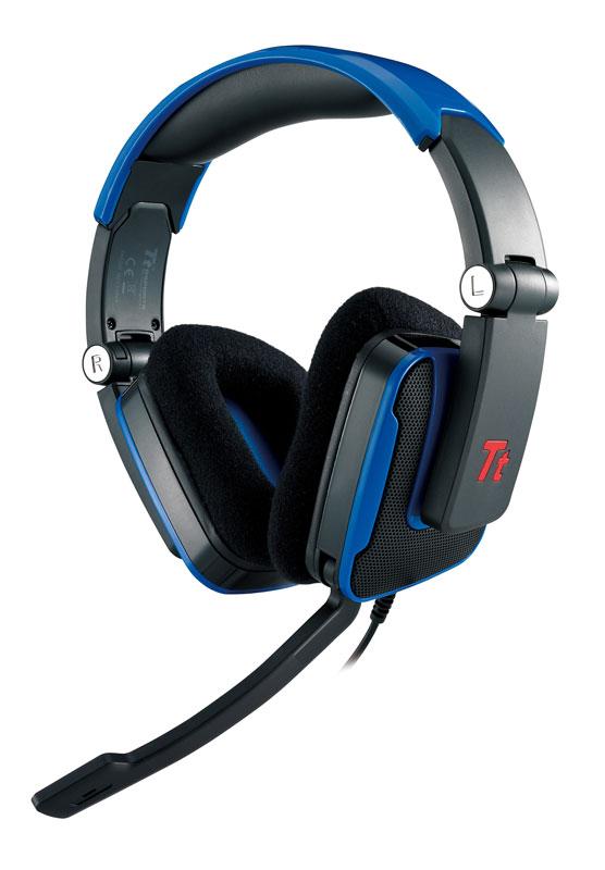 Thermaltake TteSPORTS SHOCK Headset ブルーノイズキャンセリングマイク搭載ゲーミングヘッドセット  (HT-SHK002ECBU)