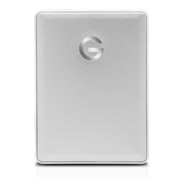 HGST-G G-Drive Mobile USB-C 2TB Silver Mac対応ポータブルストレージ シルバー 0G10339