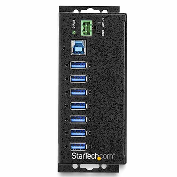 StarTech 7ポート産業用 USB 3.0ハブ ESD & 350Wサージ保護|HB30A7AME