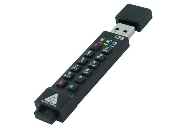 Apricorn 暗号化セキュリティに特化したUSB 3.0対応USBメモリー Aegis Secure Key 3NX - USB3.0 Flash Drive|ASK3-NX-4GB