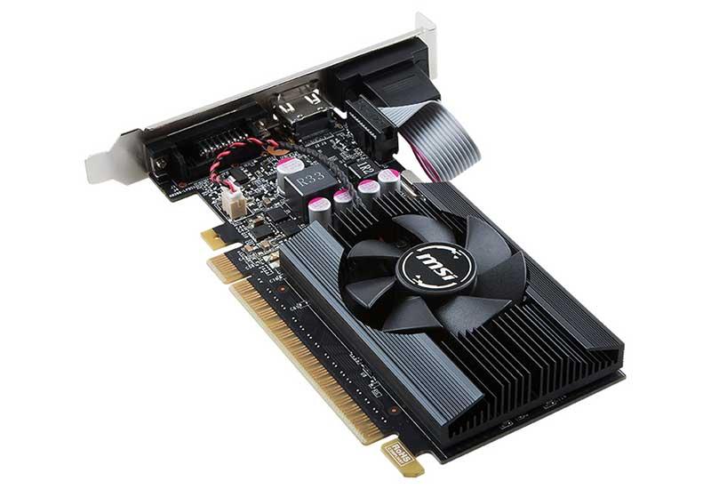 MSI GT 710 2GD5 LP 1スロットサイズ GDDR5メモリ採用グラフィックボード