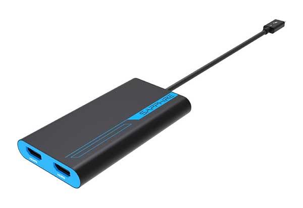 Sapphire Thunderbolt3 to Dual HDMI Active Thunderbolt3からHDMIx2に出力するアダプタ|44005-02-20G