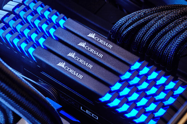 Corsair 16GB(8GBx2) DDR4 3000MHz(PC4-24000) DIMM Unbuffered 15-17-17-35 Vengeance Blue LED CMU16GX4M2C3000C15B