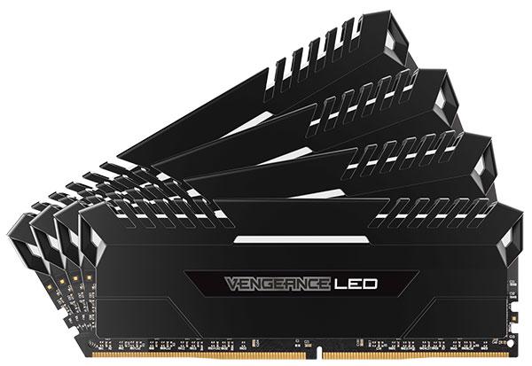 Corsair 32GB(8GBx4) DDR4 3200MHz(PC4-25600) Unbuffered 16-18-18-36 Vengeance White LED CMU32GX4M4C3200C16