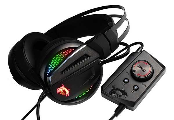 MSI Immerse GH70 ゲーミングヘッドセット 7.1chバーチャルサラウンド/ハイレゾ対応/LEDカラー