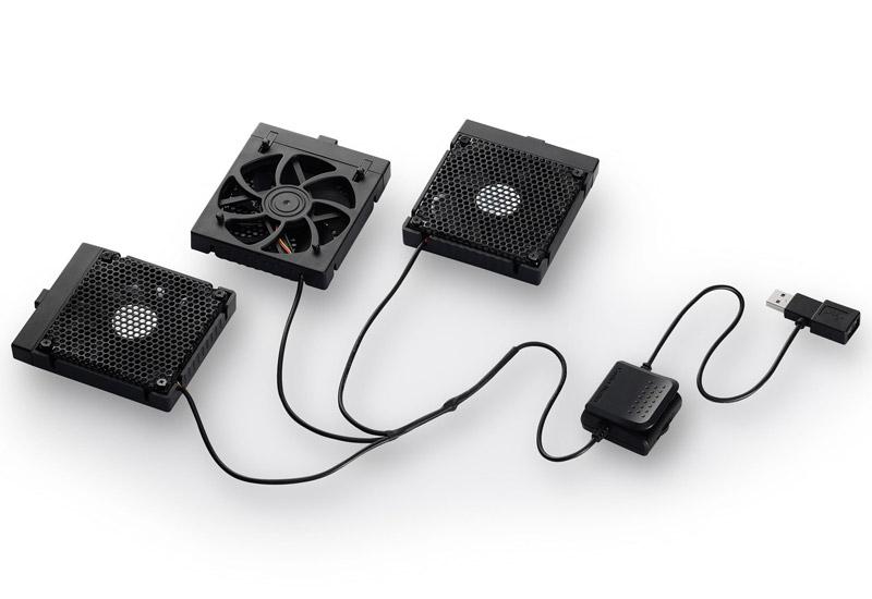 Cooler Master 3つのファンの自由な位置調整に対応したノートブッククーラー NOTEPAL U3 PLUS BLACK (R9-NBC-U3PKJ-GP)