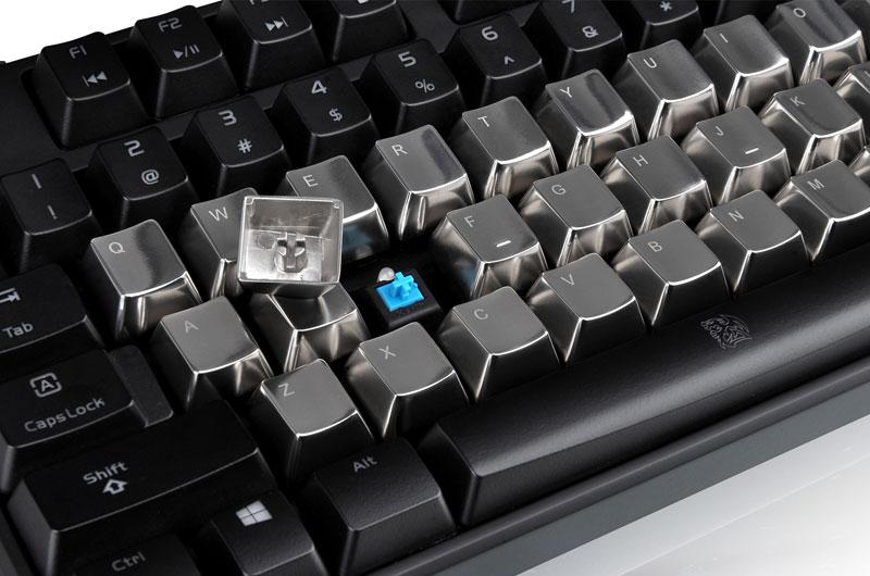Thermaltake Tt eSPORTS METALCAPS 37 keys+ESC メタルキーキャップ (EA-MTC-AKCSIL-37)