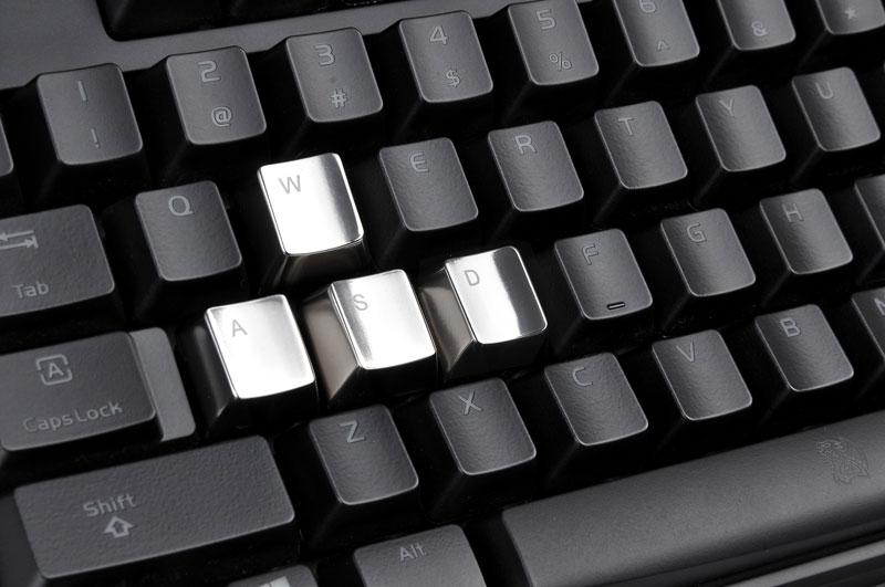 Thermaltake Tt eSPORTS METALCAPS 5 keys WASD+ESC メタルキーキャップ (EA-MTC-AKCSIL-WA)