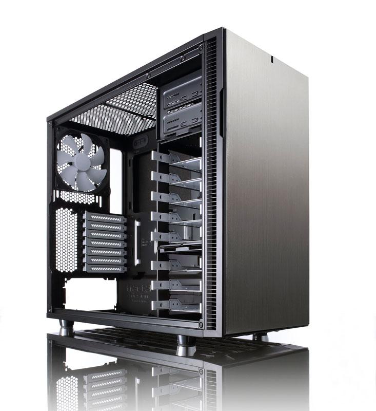 Fractal Design Define R5 Titanium Grey 静音性と拡張性を備え、多くの冷却オプションに対応したミドルタワー型PCケース (FD-CA-DEF-R5-TI)