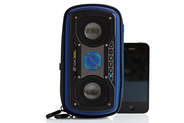 【クリアランス特価品・訳アリ品】Goal Zero ソーラーパネル搭載 Bluetoothスピーカー Rock Out 2 Solar Speaker - Blue (94016)