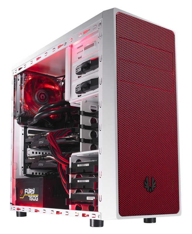 BitFenix Neos White/Red ミドルタワー型PCケース ホワイト/レッド (BFC-NEO-100-WWXKR-RP)