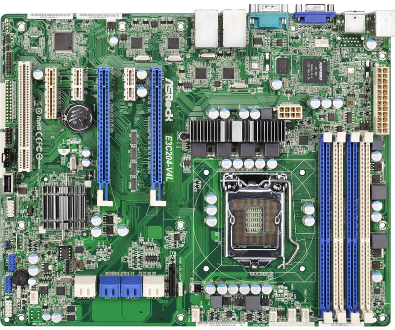 ASRock Rack LGA1155対応サーバー向けマザーボード (E3C204-V4L)