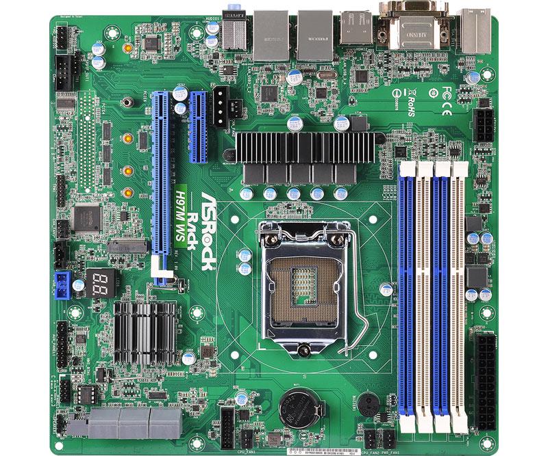 ASRock Rack Intel H97チップセット搭載ワークステーション向けmicroATXマザーボード (H97mWS)