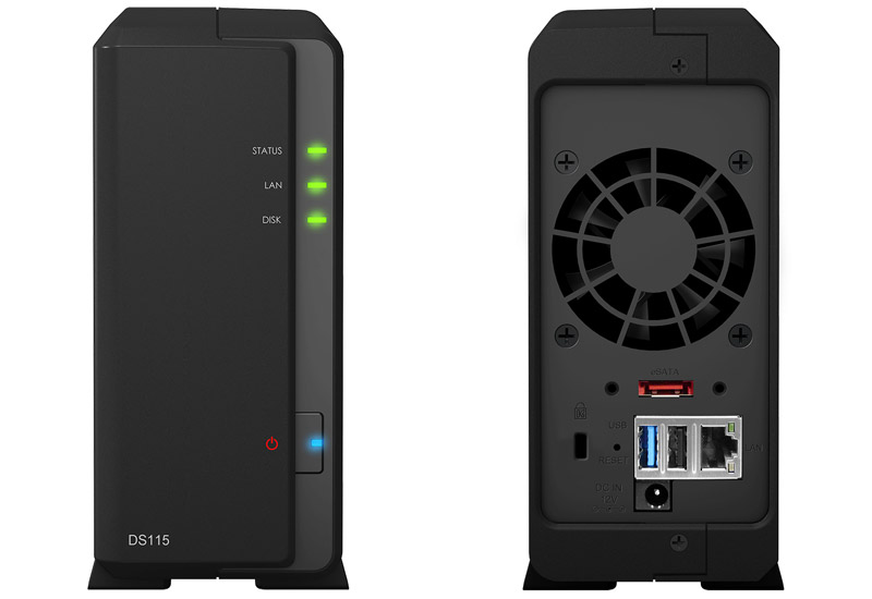 Synology 高速1ベイNASキット DiskStation DS115 (DS115)