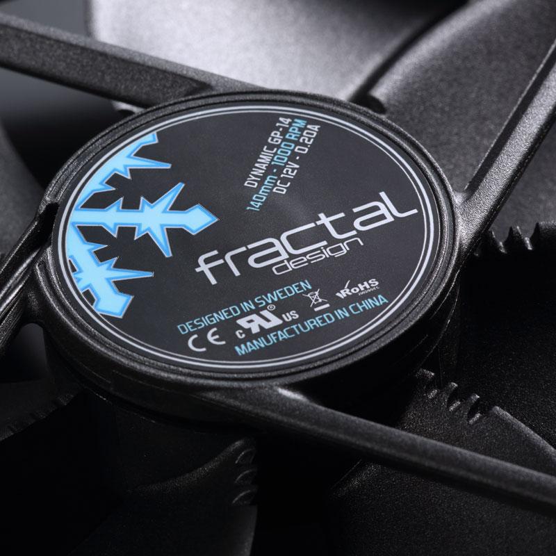 Fractal Design Dynamic GP-14 ブラック 低騒音で大風量を実現 140mm径ファン (FD-FAN-DYN-GP14-BK)
