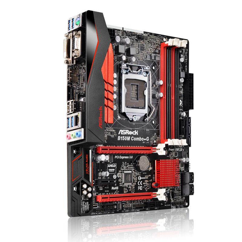 ASRock インテルB150チップセット搭載Micro ATXマザーボード (B150M Combo-G)