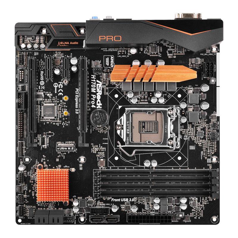 ASRock インテルH170チップセット搭載Micro ATXマザーボード (H170M Pro4)
