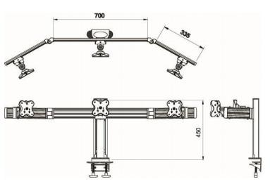 Belltech 3台レールシステム 水平スライドウィング(EGAR-4513W)