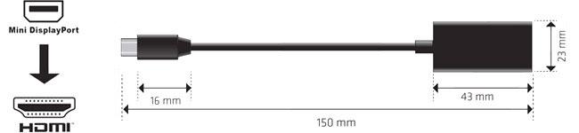 Club 3D Mini Displayport1.2 to HDMI2.0 UHD 変換 アクティブアダプタ 4K/60Hz対応 (CAC-1170)