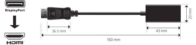 Club 3D Displayport1.2 to HDMI2.0 UHD 変換アクティブアダプタ 4K/60Hz対応 (CAC-1070)
