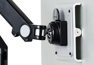Humanscale M2 Monitor Arm 水平垂直可動式のモニターアーム 1台取付可|M2-BK