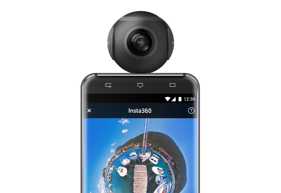 Arashi Vision Insta360 Air Micro USB ブラック 360度ビデオカメラ|CINMAIR/B/BLACK