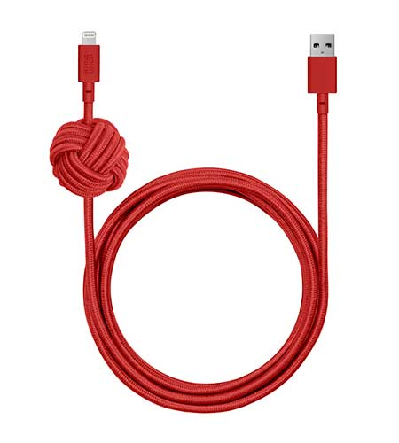 Native Union  NIGHT CABLE 3m Lightningケーブル MFi|NCABLE-L-RED-V2