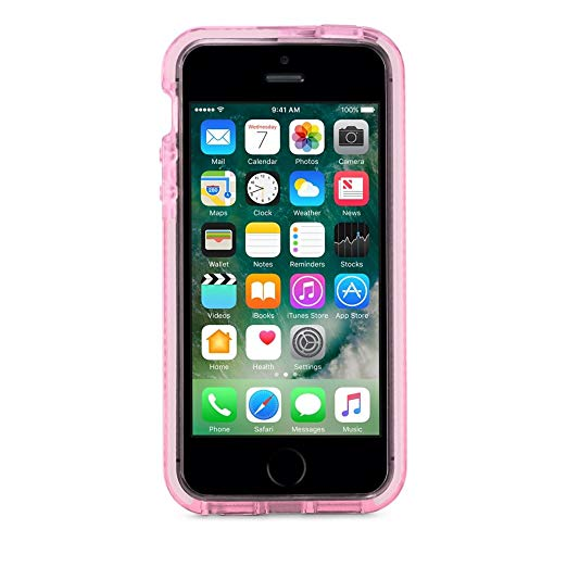 Tech21 Evo Mesh for iPhone 5/5S/SE プロテクトケース Rose Tint/White(ピンク ホワイト)|T21-5395