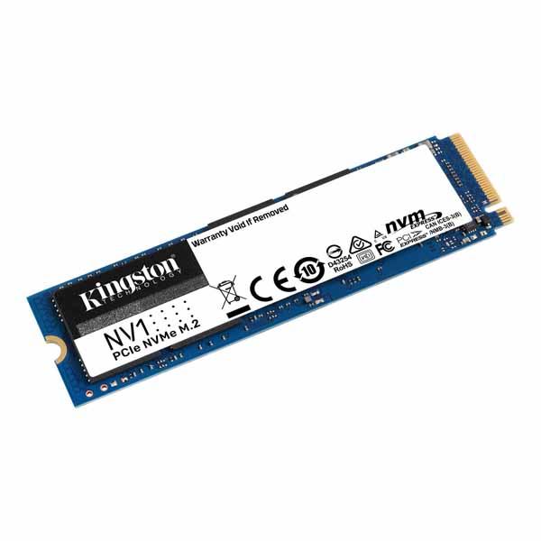 Kingston NV1 NVMe PCIe SSD 容量500GB M.2(2280) 3D QLC 2.1mm (Read 2100MB Write 1700MB) 3年メーカー保証 SNVS/500G