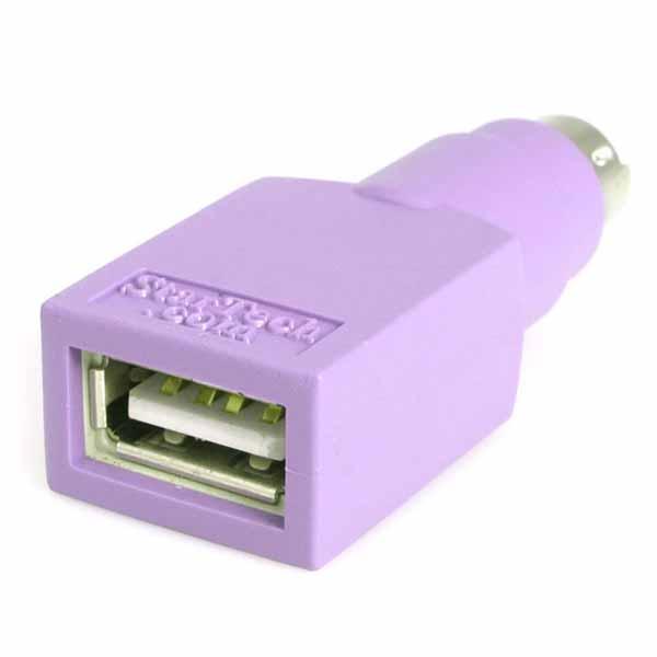 StarTech USB - PS/2変換アダプタ USBキーボード - PS2変換コネクタ USB Aタイプ メス - PS/2 オス |GC46FMKEY