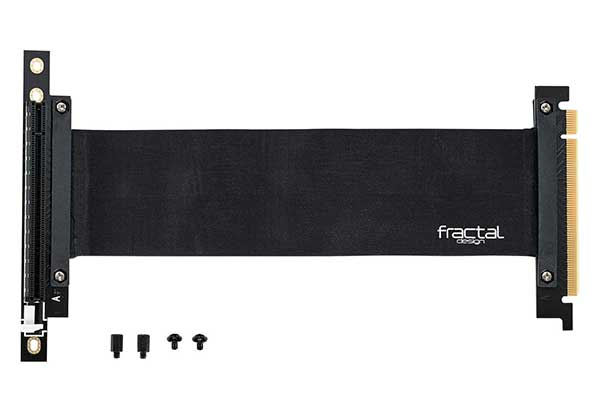 Fractal Design FLEX VRC-25 DefineR6向けVGA垂直マウント用ライザーケーブル FD-ACC-FLEX-VRC-25-BK